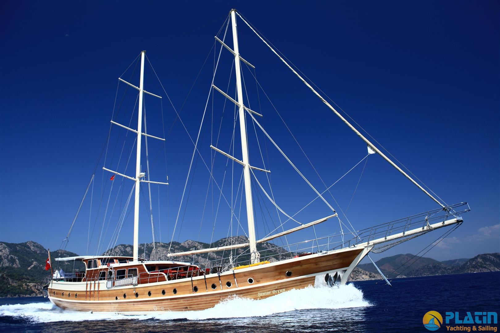 Junior orcun gulet yacht charter 8 cabins ac 32 m yacht for By the cabin catamaran charters