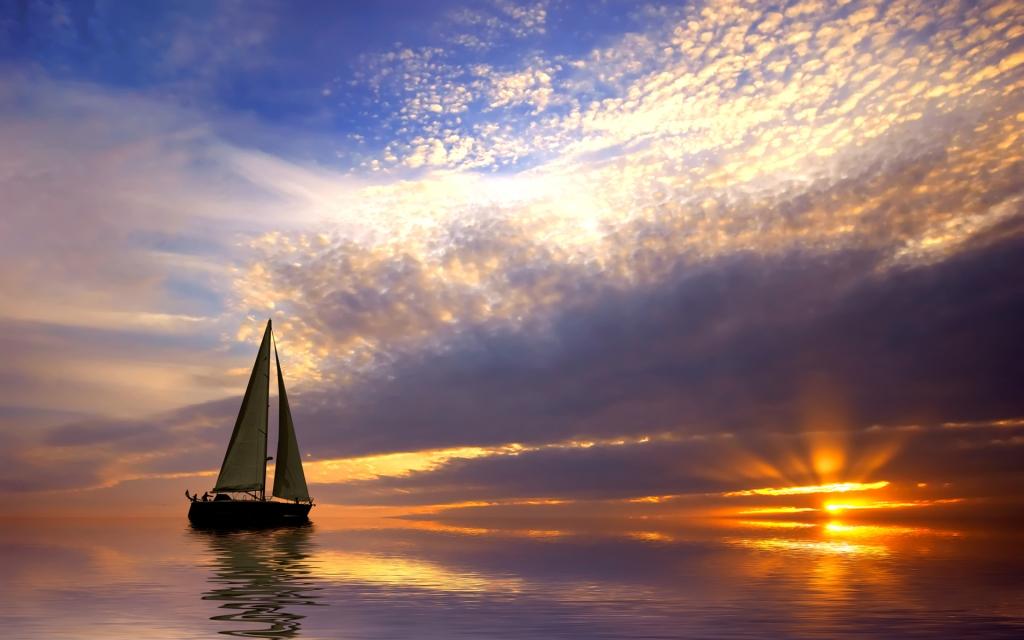 sailing aboat