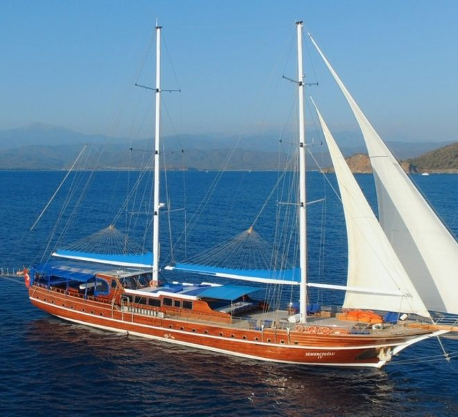 semercioglu gulet yacht 40 meters 10 cabins 20 passanger gulet Fethiye Marmaris bodrum Turkey
